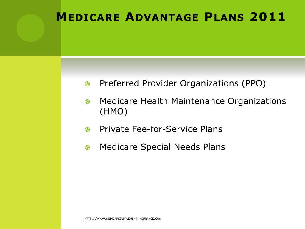 Medicare Advantage Plans 2011