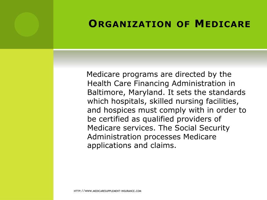 Organization of Medicare