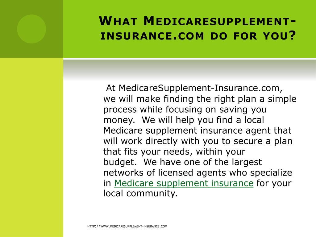 What Medicaresupplement-insurance.com do for you?
