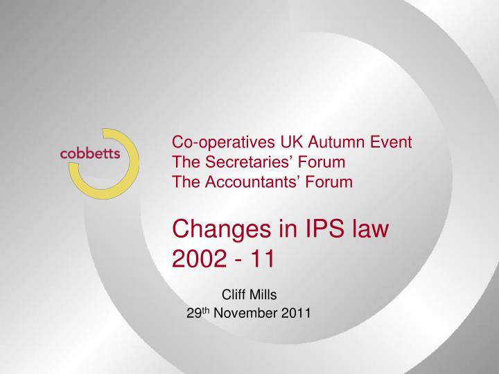 Co-operatives UK Autumn Event