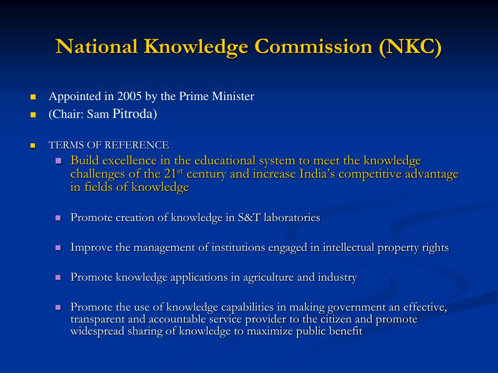 National Knowledge Commission (NKC)