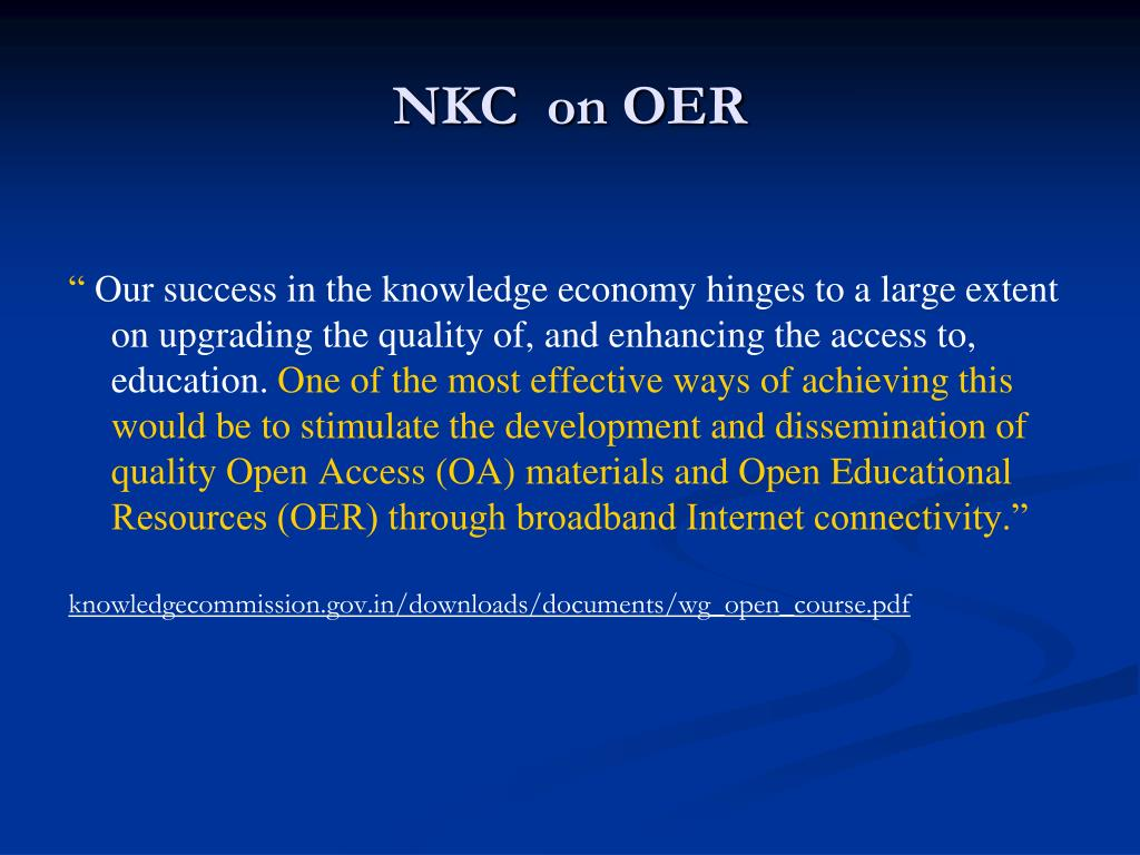 NKC  on OER