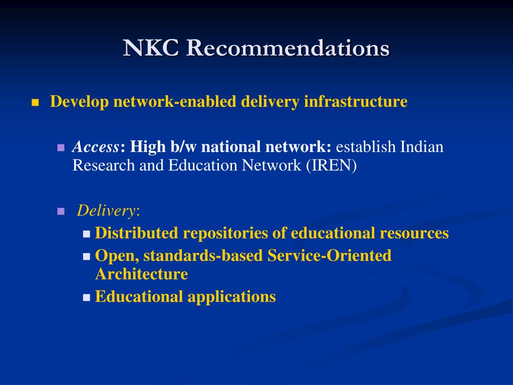 NKC Recommendations