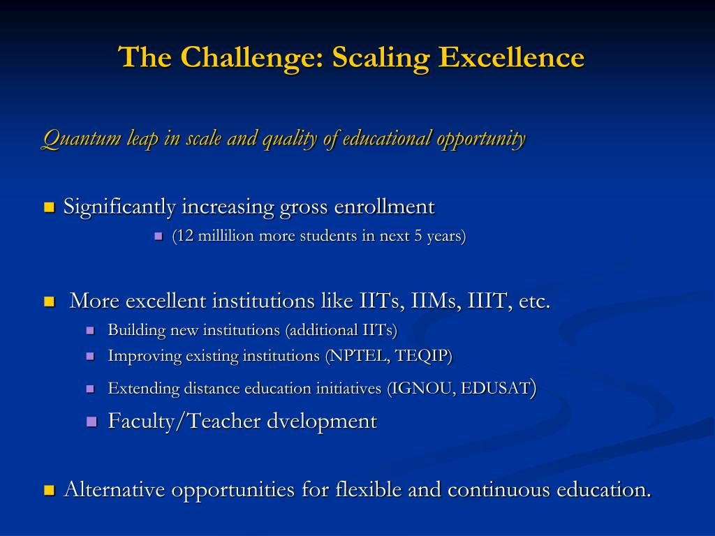The Challenge: Scaling Excellence