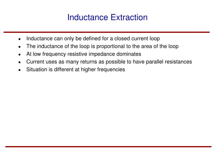 Inductance Extraction