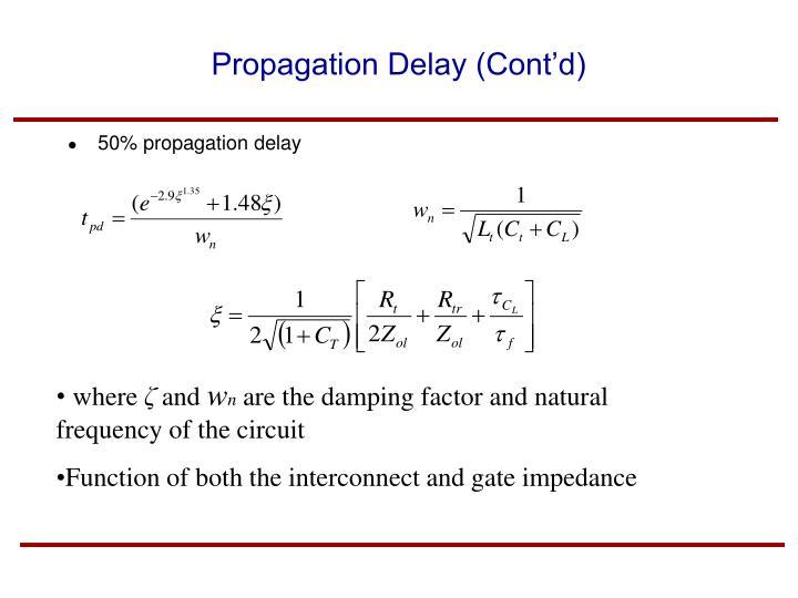 Propagation Delay (Cont'd)
