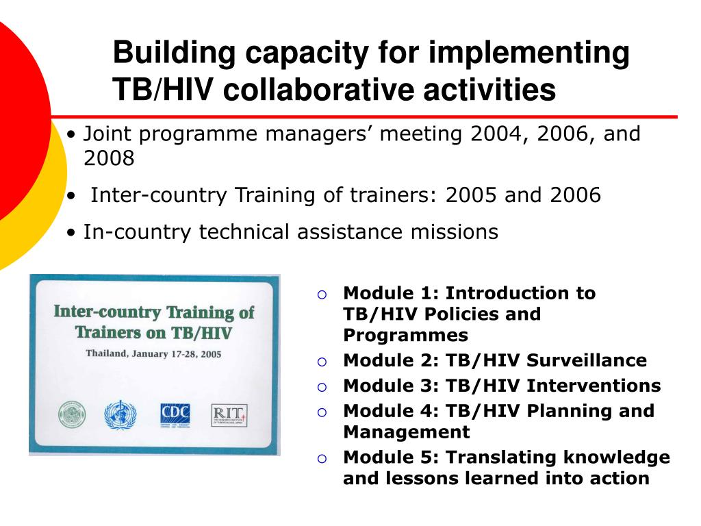 Building capacity for implementing TB/HIV collaborative activities