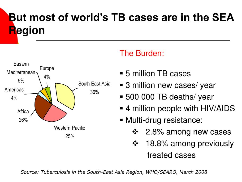 But most of world's TB cases are in the SEA Region