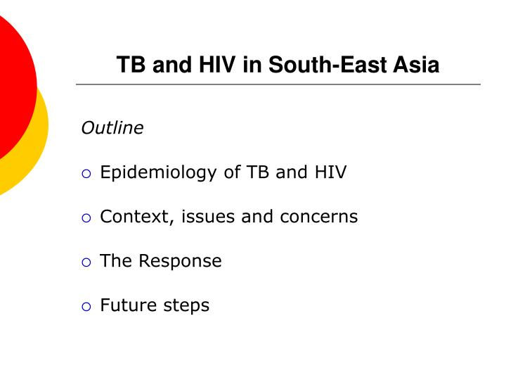 Tb and hiv in south east asia