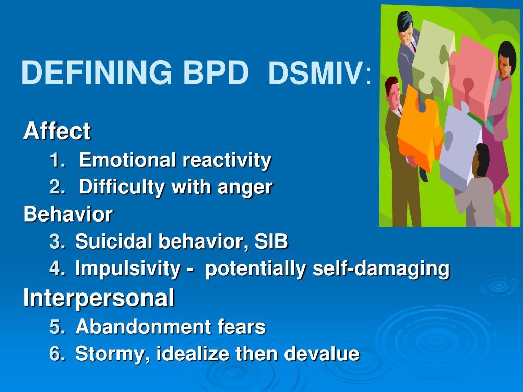 DEFINING BPD