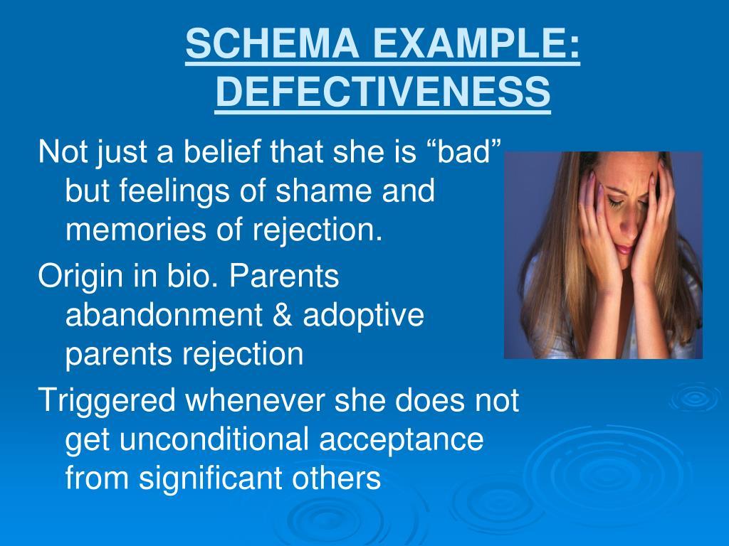 SCHEMA EXAMPLE: DEFECTIVENESS