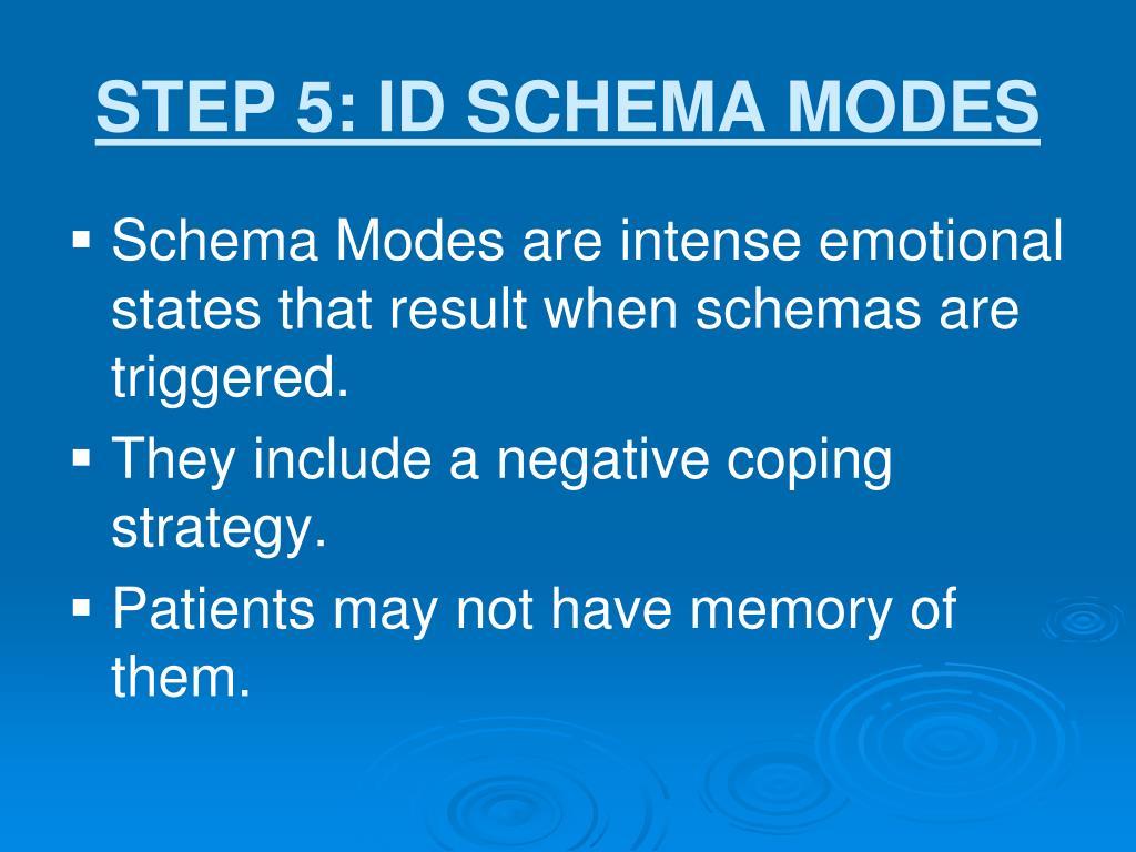 STEP 5: ID SCHEMA MODES