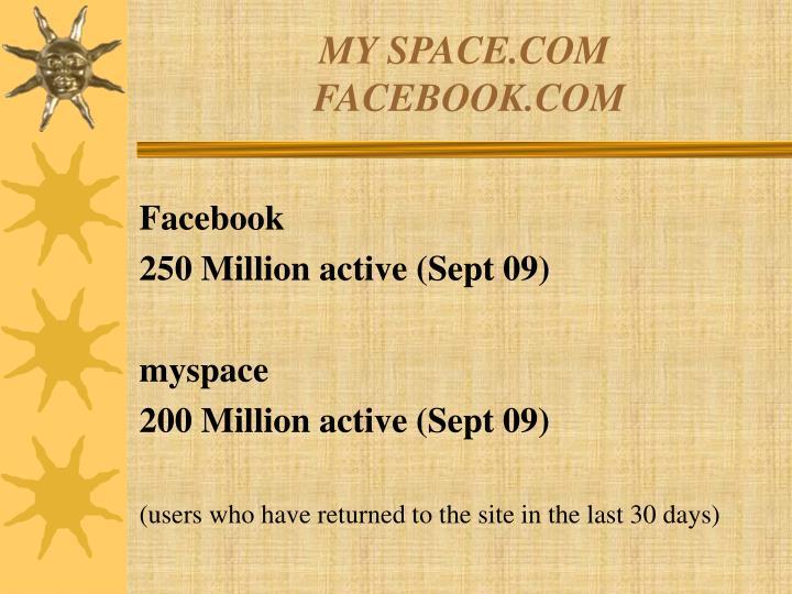 MY SPACE.COM