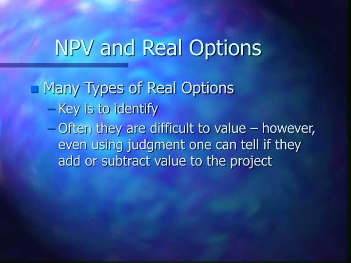 Npv and real options3