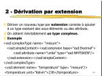 2 d rivation par extension