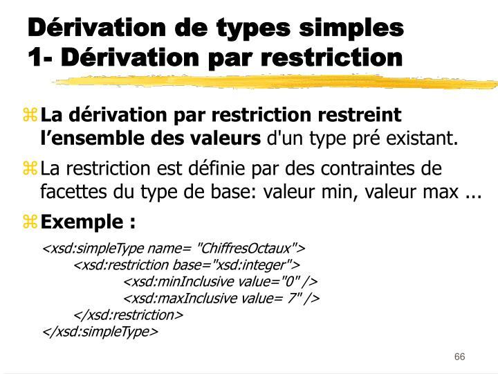 Dérivation de types simples