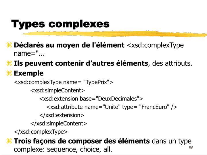 Types complexes