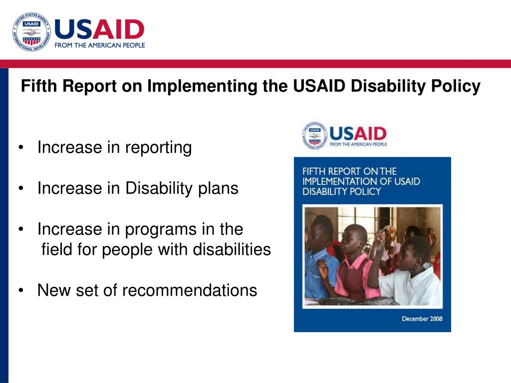 Fifth Report on Implementing the USAID Disability Policy