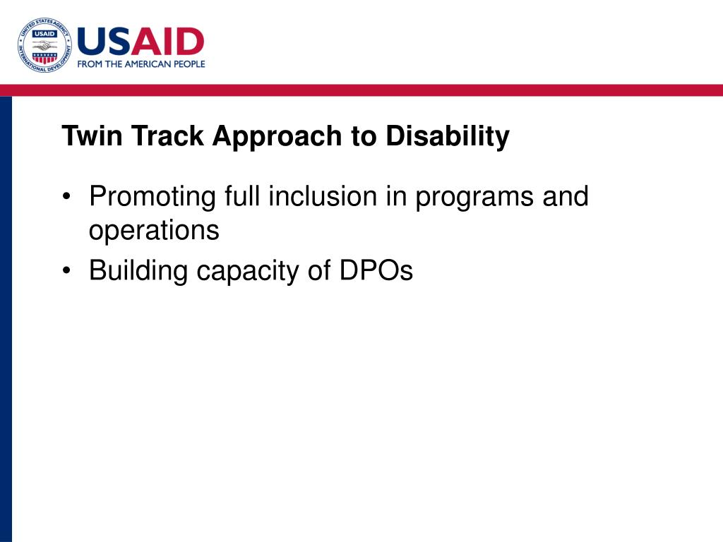 Twin Track Approach to Disability