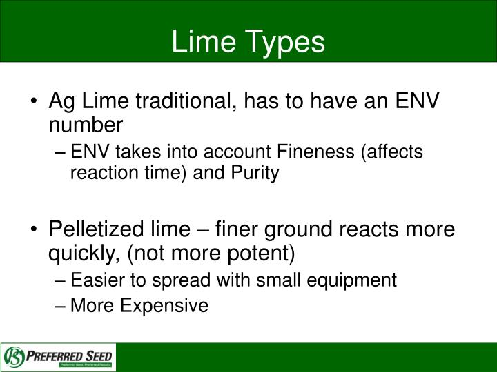 Lime Types