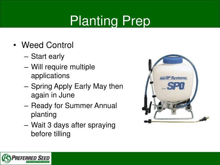 Planting Prep