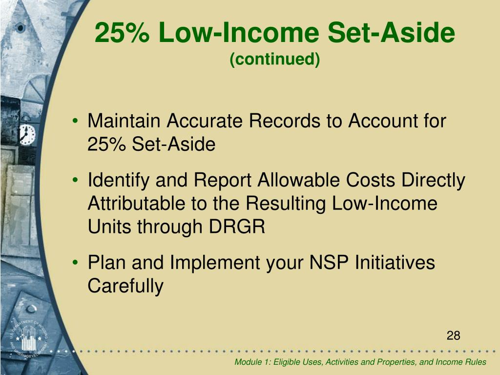 25% Low-Income Set-Aside