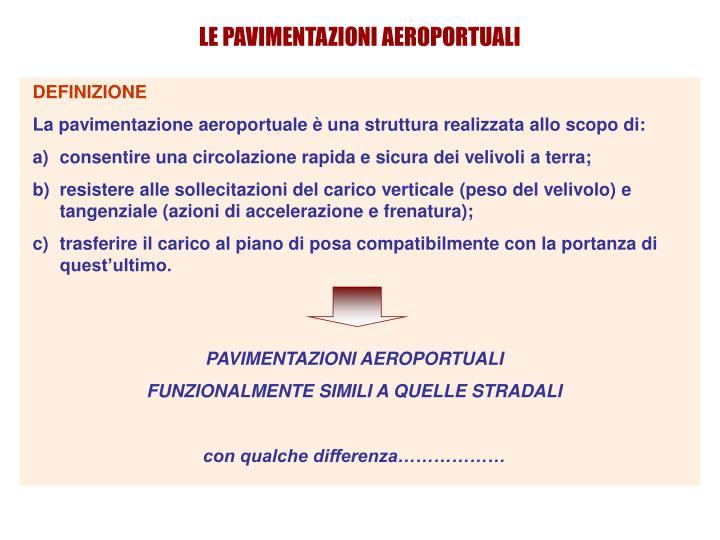 LE PAVIMENTAZIONI AEROPORTUALI