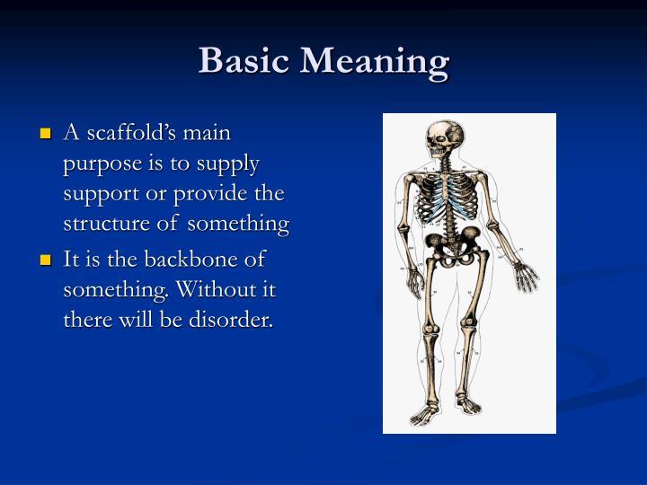 Basic Meaning