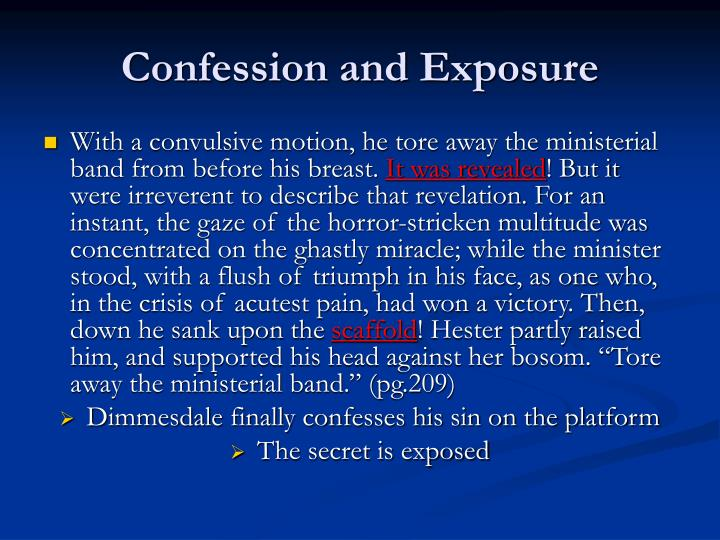 Confession and Exposure