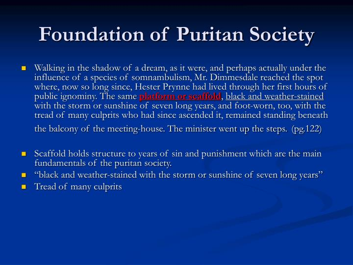 Foundation of Puritan Society