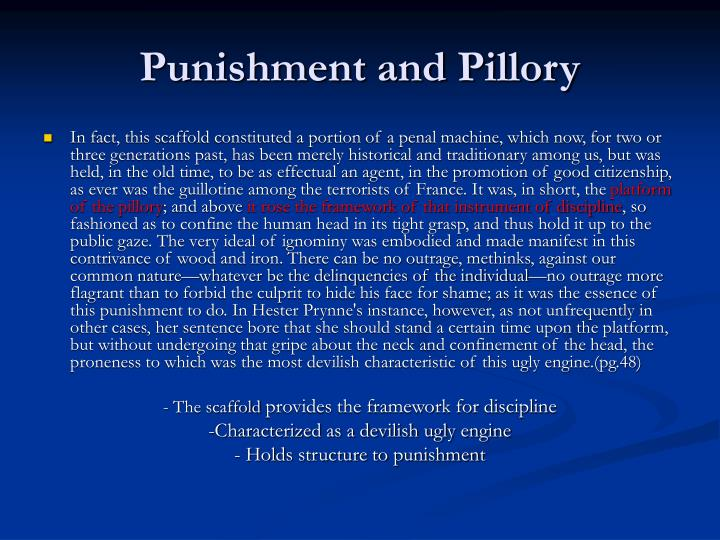 Punishment and Pillory