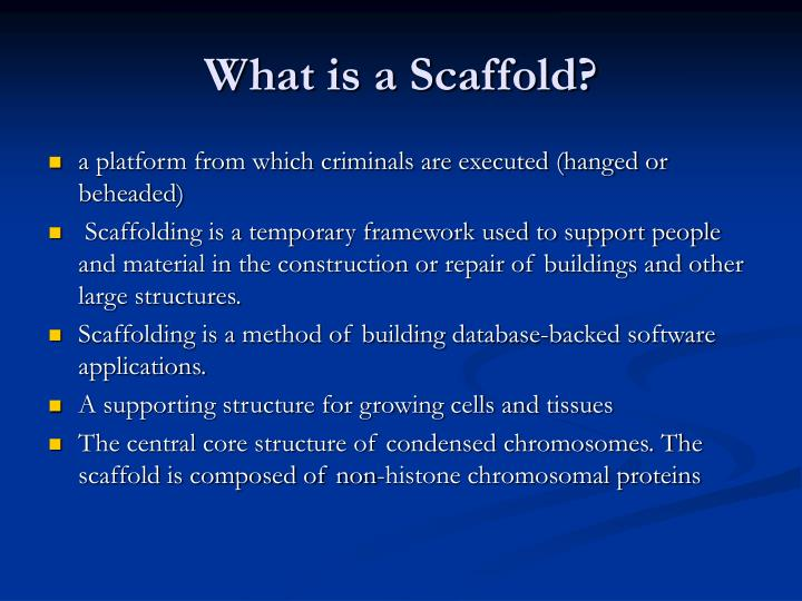 What is a Scaffold?