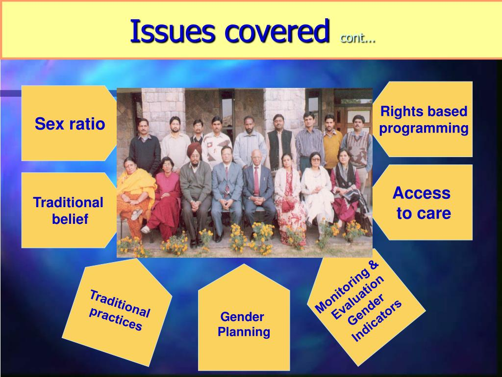 Issues covered