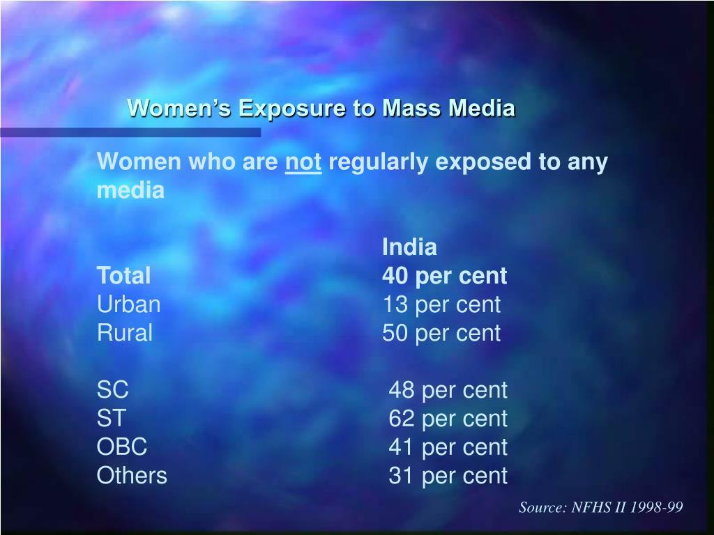 Women's Exposure to Mass Media