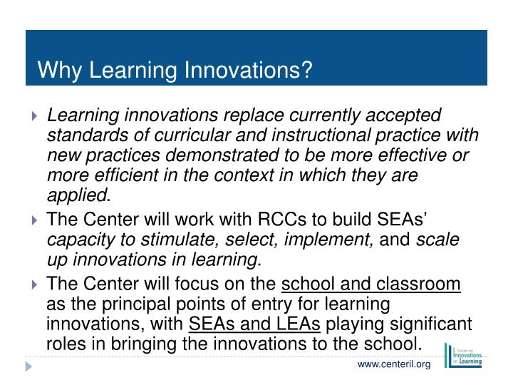 Why Learning Innovations?