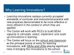 why learning innovations