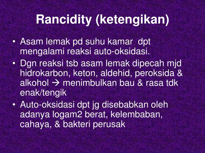 Rancidity (ketengikan)
