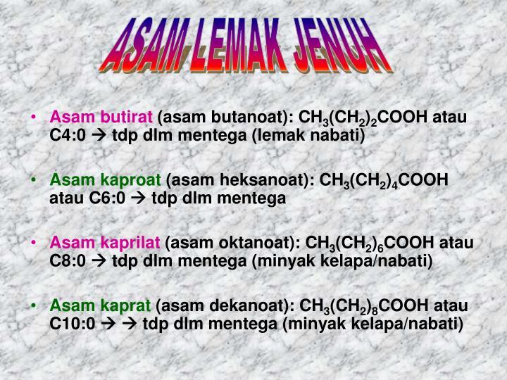 ASAM LEMAK JENUH