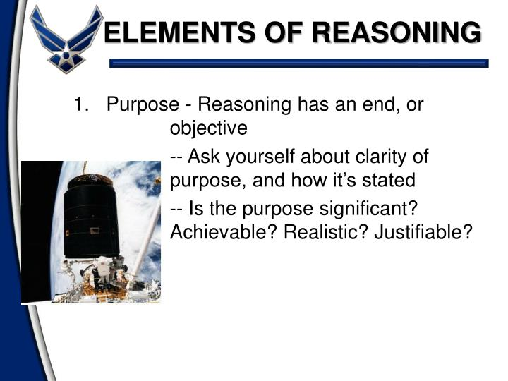 ELEMENTS OF REASONING