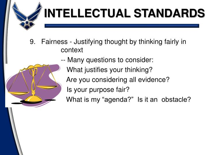 INTELLECTUAL STANDARDS