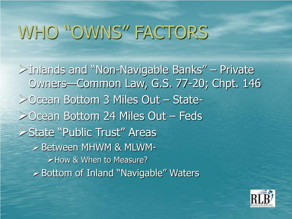 """WHO """"OWNS"""" FACTORS"""