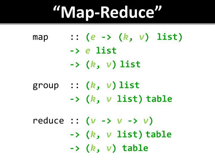 """Map-Reduce"""