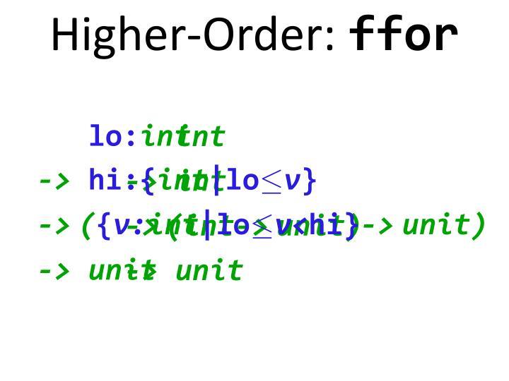 Higher-Order: