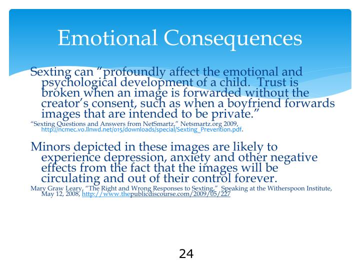 Emotional Consequences