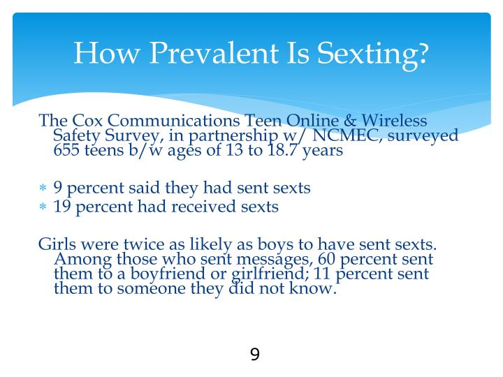 How Prevalent Is Sexting