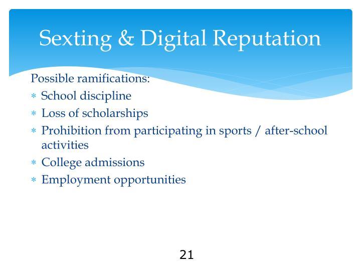 Sexting & Digital Reputation