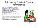 introducing student fluency partnerships