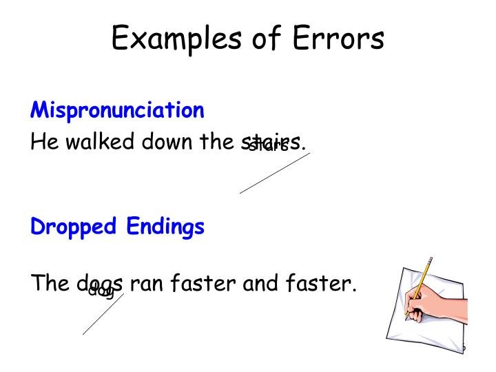 Examples of Errors