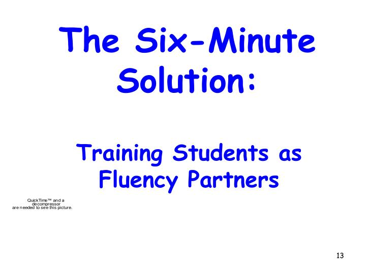 Training Students as Fluency Partners