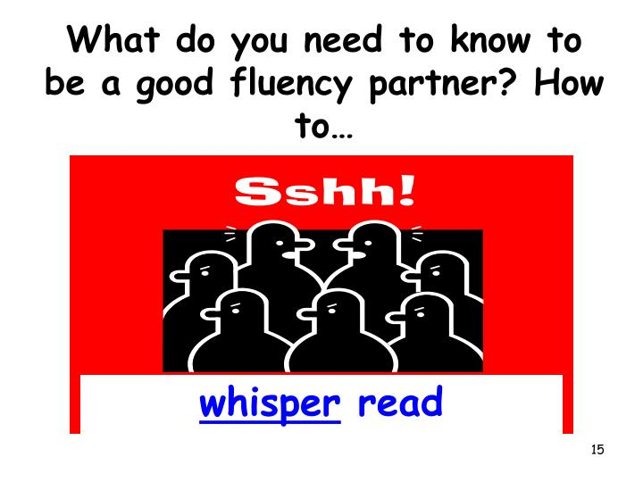 What do you need to know to be a good fluency partner? How to…